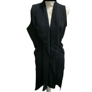 Zara navy blue sleeveless jacket